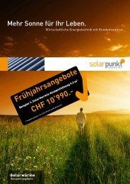 Frühjahrsangebote CHF 10'990.- - Solarpunkt AG