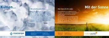 Broschüre Solares Kühlsystem - Solarpunkt AG