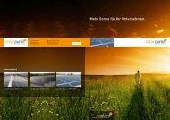 Mehr Sonne für Ihr Unternehmen. - Solarpunkt AG