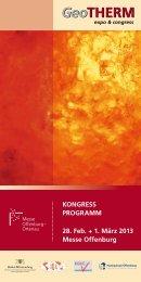 GeoTHERM-Kongressprogramm - Geothermie-Nachrichten