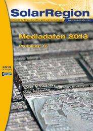 Die aktuellen Mediadaten als PDF - SolarRegion