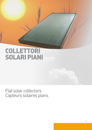 COLLETTORI SOLARI PIANI - Photovoltaics / Solar Thermal