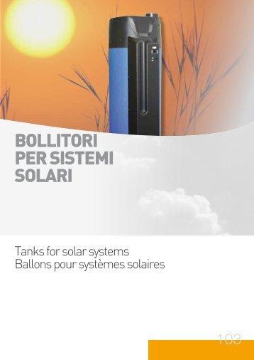 BOLLITORI PER SISTEMI SOLARI - Photovoltaics / Solar Thermal