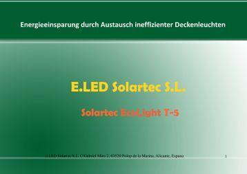 Empfehlung einer Strategie - E.LED Solartec