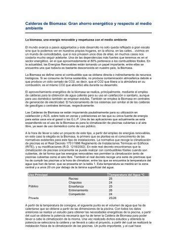 Calderas de Biomasa y ahorro energetico.pdf - Solarweb
