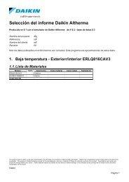 Selección del informe Daikin Altherma - Solarweb