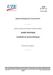 UTE C 15-712 GUIDE PRATIQUE Installations ... - Solarweb