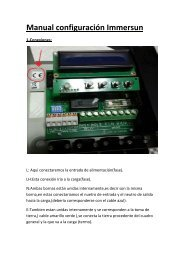 Manual configuración Immersun.pdf - Solarweb