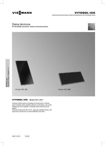 Colector térmico Viessmann Vitosol serie 100 V y H.pdf - Solarweb