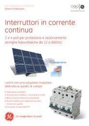 Interruttori in corrente continua - Solarweb
