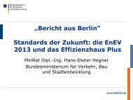 Standards der Zukunft: die EnEV 2013 und das Effizienzhaus Plus
