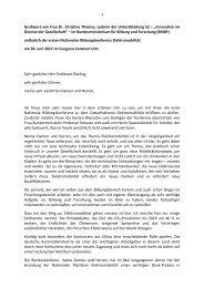 Grußwort von Frau Dr. Christine Thomas, Leiterin ... - Universität Ulm