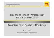 Flächendeckende Infrastruktur für Elektromobilität Anforderungen an ...