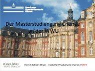 Der Masterstudiengang Chemie an der WWU