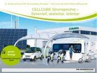 CELLCUBE Stromspeicher – Serienreif, skalierbar, lieferbar
