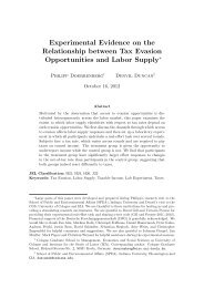 Experimental Evidence on the Relationship between Tax Evasion ...