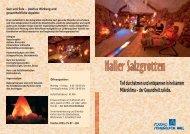 Weitere Informationen zur Salzgrotte - Solbad Schwäbisch Hall