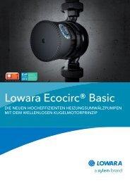 Lowara Ecocirc® Basic - soleg