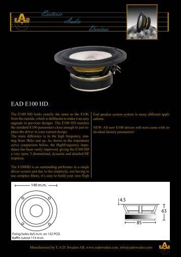 EAD E100 HD. - Solen