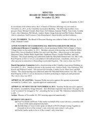MINUTES BOARD OF DIRECTORS MEETING Held: November 22 ...