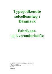 Typegodkendte solcelleanlæg i Danmark Fabrikant