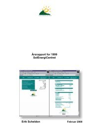 Foreløbig årsrapport for 1997 - Solenergi.dk