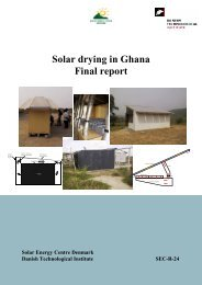 Solar drying in Ghana - Final report