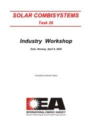 SOLAR COMBISYSTEMS Industry Workshop - Solar Thermal | IEA ...