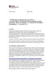 Analyse af adm. procedurer og praksis for adgang til nettilslutning ...