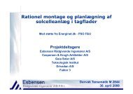 Rationel montage og planlægning af solcelleanlæg i tagflader