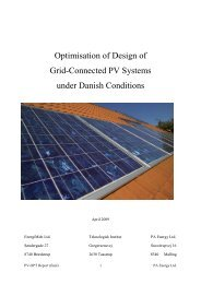 Optimisation of Design of Grid-Connected PV Systems under Danish ...