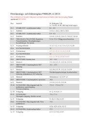Föreläsnings- och lektionsplan TMHL09, vt 2013