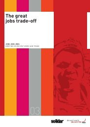 The Great Jobs Trade Off - Solidar