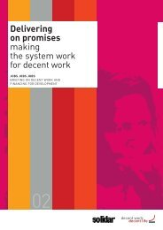 Delivering on Promises: Making the System Work for ... - Solidar