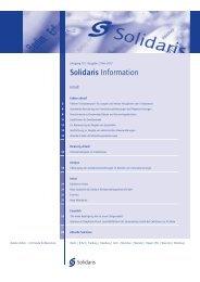 Jahrgang 15 | Ausgabe 2/Mai 2012 Solidaris Information