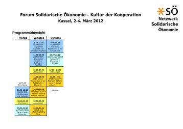 Forum Solidarische Ökonomie – Kultur der Kooperation - Kongress ...