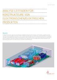 Analyse-Leitfaden für elektronische und elektrische Produkte.