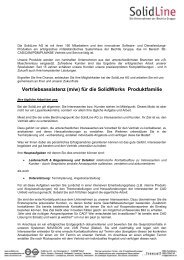 Stellenbeschreibung Vertriebsassistenz_Holzwickede - SolidLine AG