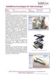 SolidWorks Grundlagen für CAD-Umsteiger - SolidLine AG
