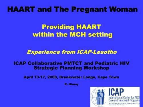 HAART and The Pregnant woman - ICAP