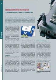 Spritzgusskonstruktion unter Zeitdruck - Solid Solutions AG