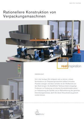 Rationellere Konstruktion von Verpackungsmaschinen