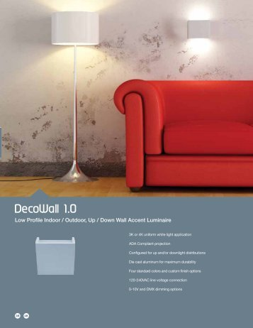 DecoWall 1.0 - Solid State Luminaires