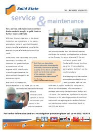 Service and Maintenance - Solid State Security