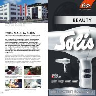 Programmteil «Beauty & Wellness - Solis