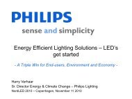 Philips PowerPoint template Guidelines for ... - Dansk Center for Lys