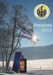 Produktkatalog 2013 - Wallnöfer HF