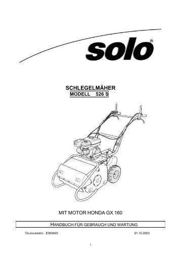 schlegelmäher mod. 526 s - SOLO Kleinmotoren GmbH