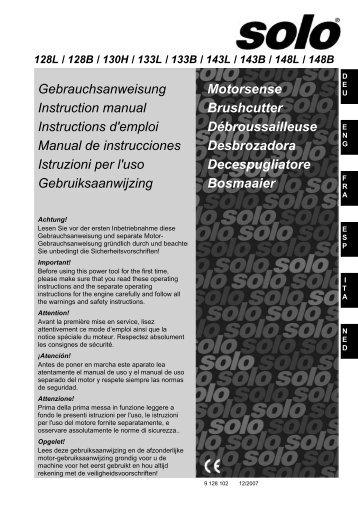 Gebrauchsanweisung Instruction manual Instructions d'emploi ...