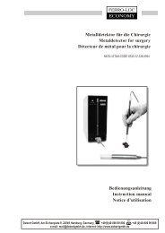 Bedienungsanleitung Instruction manual Notice d ... - Dobert GmbH